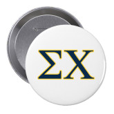 2.25 inch Round Button-Sigma Chi Greek Letters