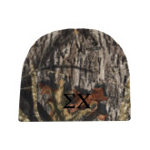 Mossy Oak Camo Fleece Beanie-Sigma Chi Greek Letters