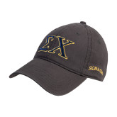 Charcoal Twill Unstructured Low Profile Hat-Sigma Chi Greek Letters