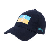Navy Twill Unstructured Low Profile Hat-Flag