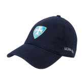 Navy Twill Unstructured Low Profile Hat-Shield