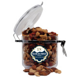 Deluxe Nut Medley Round Canister-Sigma Chi Greek Letters