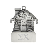 Pewter House Ornament-Sigma Chi Greek Letters Engraved