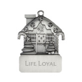 Pewter House Ornament-Life Loyal Flat Engraved