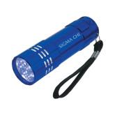 Industrial Triple LED Blue Flashlight-Sigma Chi Engraved
