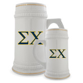 Full Color Decorative Ceramic Mug 22oz-Sigma Chi Greek Letters