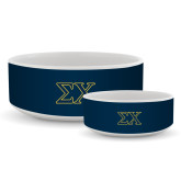 Ceramic Dog Bowl-Sigma Chi Greek Letters