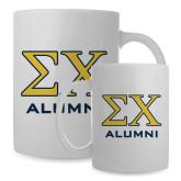 Alumni Full Color White Mug 15oz-Greek Letter Alumni