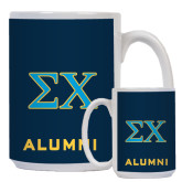 Alumni Full Color White Mug 15oz-Sigma Chi Greek Letters