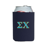 Collapsible Navy Can Holder-Sigma Chi Greek Letters