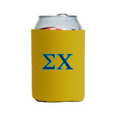Neoprene Gold Can Holder-Sigma Chi Greek Letters