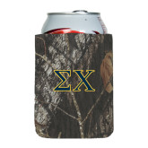 Collapsible Mossy Oak Camo Can Holder-Sigma Chi Greek Letters