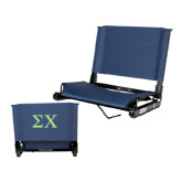 Stadium Chair Navy-Sigma Chi Greek Letters