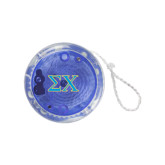 Light Up Blue Yo Yo-Sigma Chi Greek Letters
