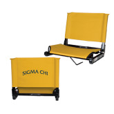 Stadium Chair Gold-Arched Sigma Chi