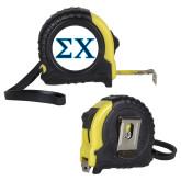 Journeyman Locking 10 Ft. Yellow Tape Measure-Sigma Chi Greek Letters
