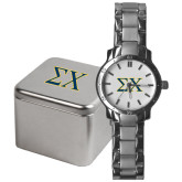 Mens Stainless Steel Fashion Watch-Sigma Chi Greek Letters