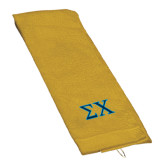 Gold Golf Towel-Sigma Chi Greek Letters