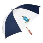 62 Inch Navy/White Umbrella-Crest