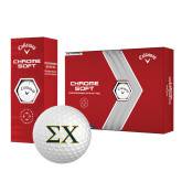 Callaway Chrome Soft Golf Balls 12/pkg-Sigma Chi Greek Letters