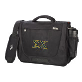 High Sierra Black Upload Business Compu Case-Sigma Chi Greek Letters