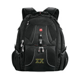 Wenger Swiss Army Mega Black Compu Backpack-Sigma Chi Greek Letters