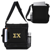 Impact Vertical Black Computer Messenger Bag-Sigma Chi Greek Letters