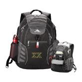 High Sierra Big Wig Black Compu Backpack-Sigma Chi Greek Letters