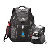 High Sierra Big Wig Black Compu Backpack-Crest