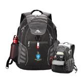 High Sierra Big Wig Black Compu Backpack-Crest