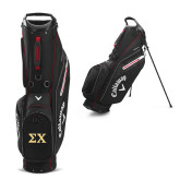 Callaway Hyper Lite 5 Black Stand Bag-Sigma Chi Greek Letters