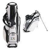 Callaway Hyper Lite 4 White Stand Bag-Sigma Chi Greek Letters
