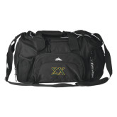High Sierra Black Switch Blade Duffel-Sigma Chi Greek Letters