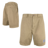 Khaki Clark Shorts 'Greek Letters'-