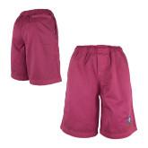 Red Travis Elastic Waist Shorts 'Crest'-