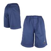 Blue Travis Elastic Waist Shorts 'Crest'-