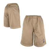 Khaki Travis Elastic Waist Shorts 'Crest'-