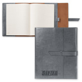 Fabrizio Grey Portfolio w/Loop Closure-Siena Engraved
