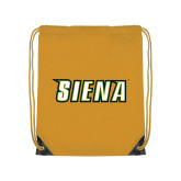 Gold Drawstring Backpack-Siena