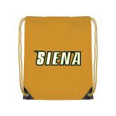 Gold Drawstring Backpack-Siena