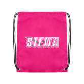 Pink Drawstring Backpack-Siena