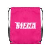 Pink Drawstring Backpack-Siena