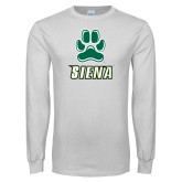 White Long Sleeve T Shirt-Siena w/Paw