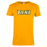 Ladies Gold T Shirt-Siena Distressed