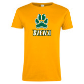Ladies Gold T Shirt-Siena w/Paw