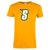 Ladies Gold T Shirt-S