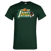 Dark Green T Shirt-Saint Sation