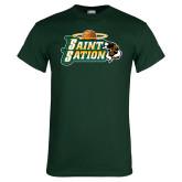 Dark Green T Shirt-Saint Sation