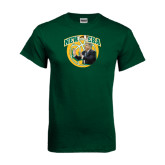 Dark Green T Shirt-New Era Basketball