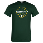Dark Green T Shirt-Basketball Court Design